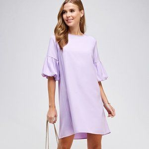 2Hearts Shift Dress with Bubble Sleeves